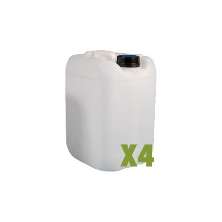 Bidon plastique 20L x4