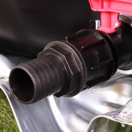 Adaptateur cannelé droit 50 mm