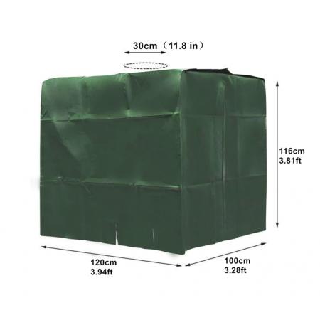 Bâche verte Anti-UV pour cuve 1000 litres