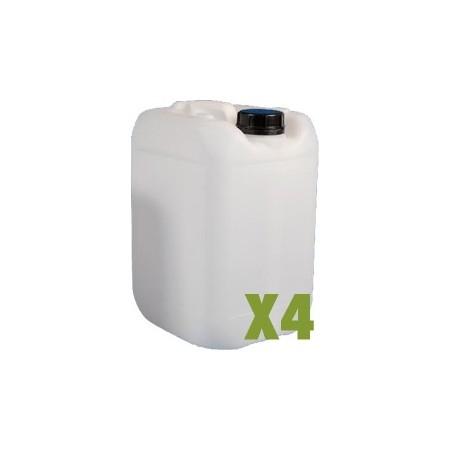 Bidon plastique 25L x4