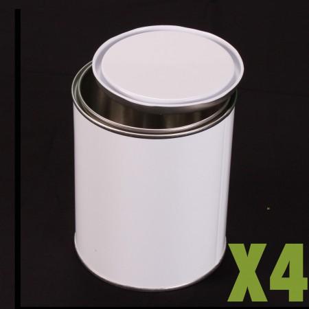 Boite métallique 1L x4