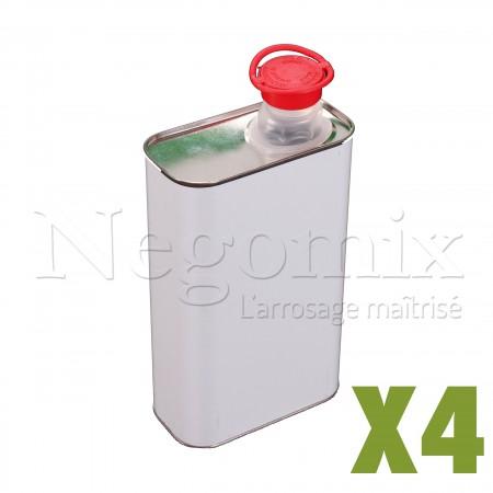 Bidon métallique 1L x4