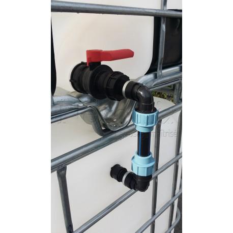 Kit vertical de raccordement pour cuve supplémentaire